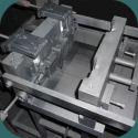 Un outillage coquille monté et prêt pour le moulage de pièces de fonderie aluminium en séries
